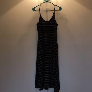 Who what wear black striped midi dress Size M